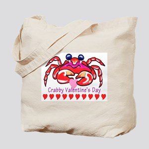 red valentine crab Tote Bag