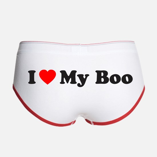 I Love My Boo Women's Boy Brief