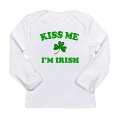 Kiss Me Shamrock Long Sleeve Infant T-Shirt