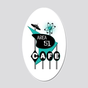 Area 51 Cafe 22x14 Oval Wall Peel