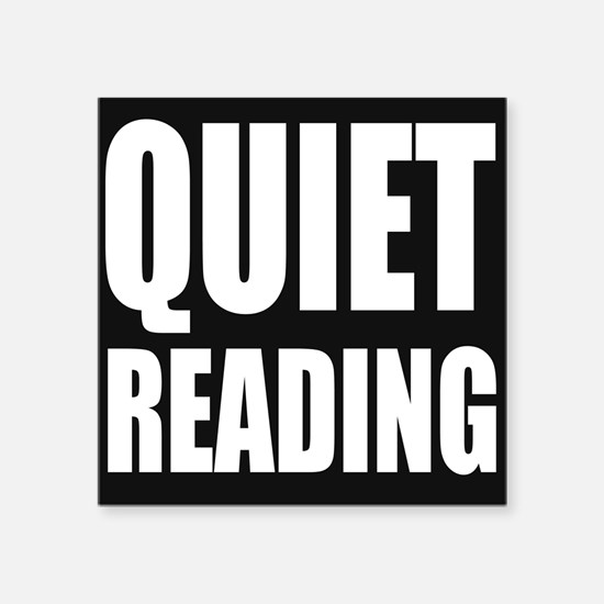 Quiet Reading Sticker