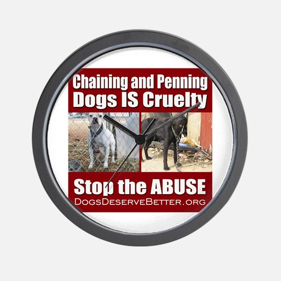 Chaining IS Cruelty Wall Clock