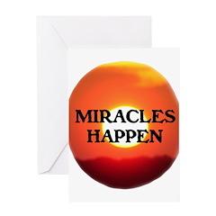 MIRACLES HAPPEN IX Greeting Card