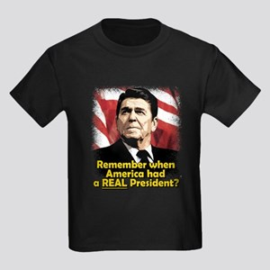 A REAL President Kids Dark T-Shirt