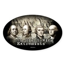 Right-Wing Extremists Oval Sticker