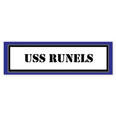 USS Runels Sticker (Bumper)