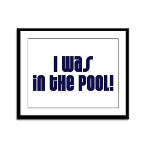 Pool Shrinkage Framed Panel Print