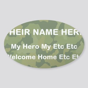 Military Camo Short Saying Sticker (oval)