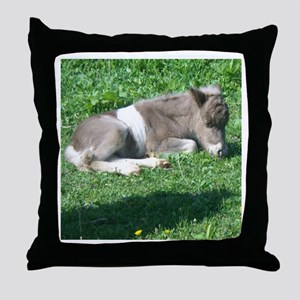Miniature Horse Baby Throw Pillow