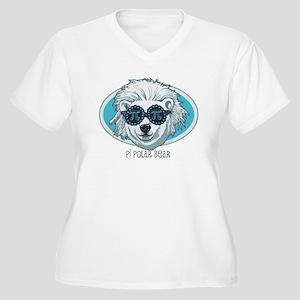 Pi Polar Bear Women's Plus Size V-Neck T-Shirt