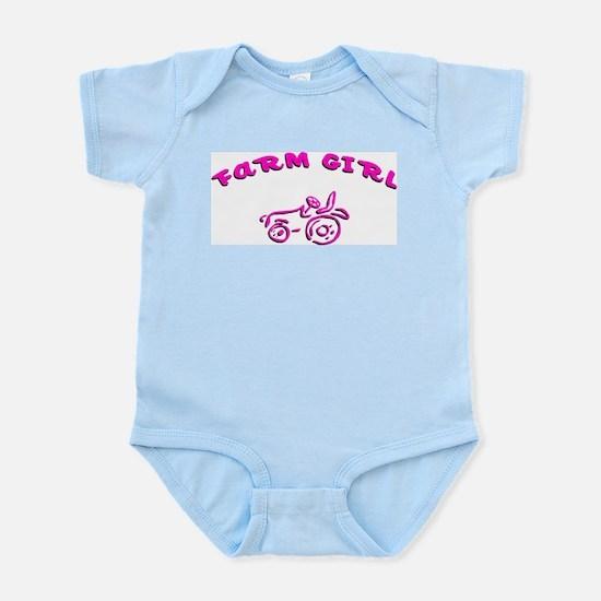 Pink farm girl Infant Bodysuit