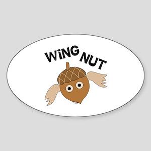Wingnut Sticker (Oval)