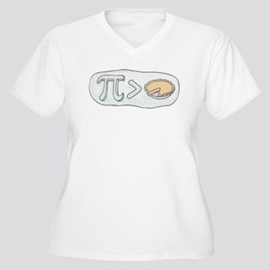 Pi Greater than Pie Women's Plus Size V-Neck T-Shi