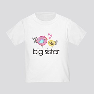 Whimsy Birds Big Sister Toddler T-Shirt