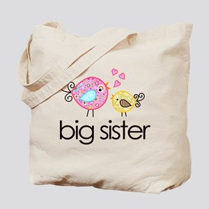 Whimsy Birds Big Sister Tote Bag