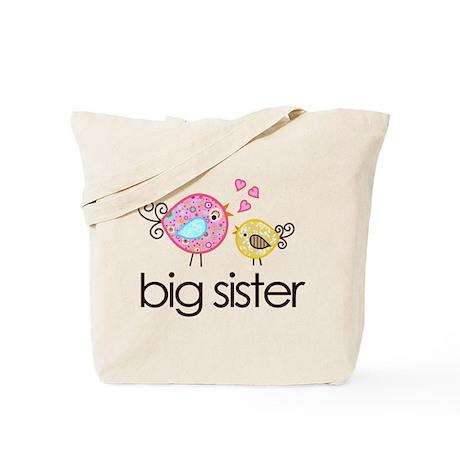 Whimsy Birds Big Sister Tote Bag