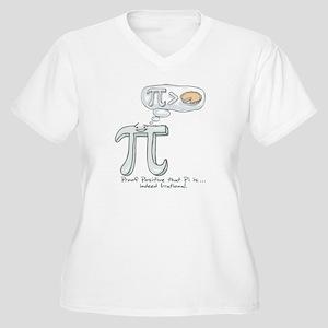 Pi is Irrational Women's Plus Size V-Neck T-Shirt