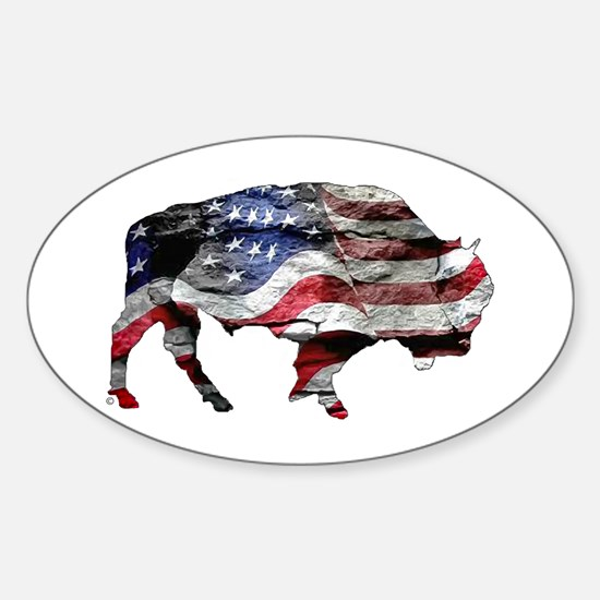 Cute Buffalo Sticker (Oval)