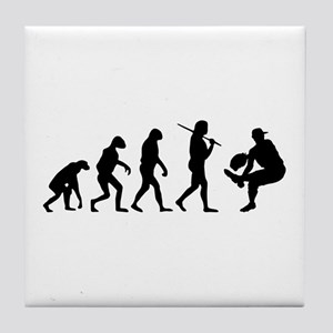 The Evolution Of The Baseball Pitcher Tile Coaster