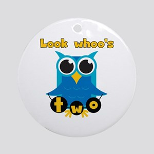 Owl Look Whoo's Two Ornament (Round)