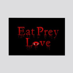 Eat Prey Love Rectangle Magnet