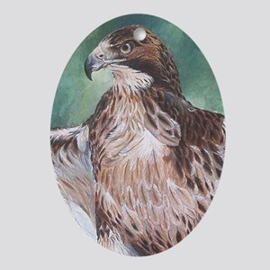 Redtailed Hawk Ornament (Oval)