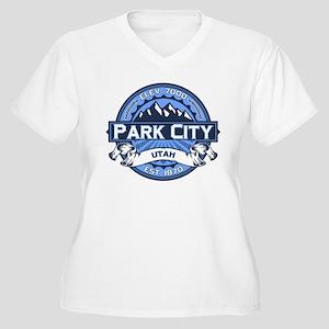 Park City Blue Women's Plus Size V-Neck T-Shirt