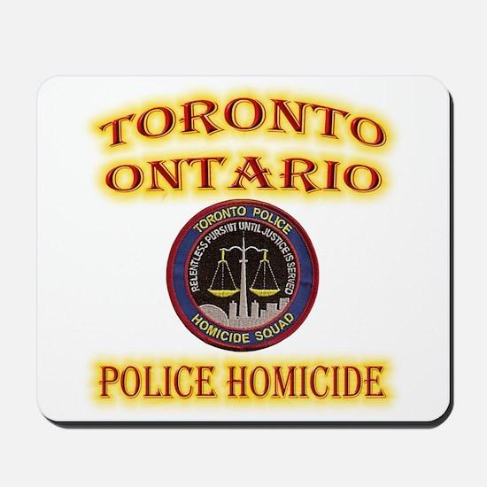 Toronto Police Homicide Mousepad