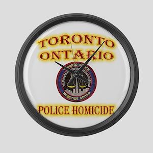 Toronto Police Homicide Large Wall Clock