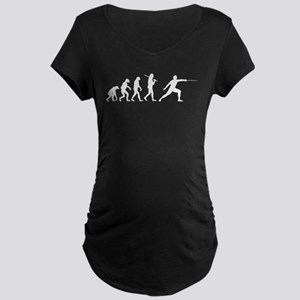 The Evolution Of Fencing Maternity Dark T-Shirt