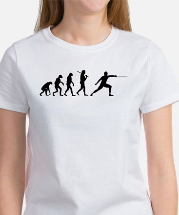 The Evolution Of Fencing Women's T-Shirt