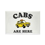 Cabs Are Here Rectangle Magnet (100 pack)