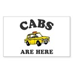 Cabs Are Here Sticker (Rectangle 50 pk)