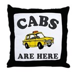 Cabs Are Here Throw Pillow