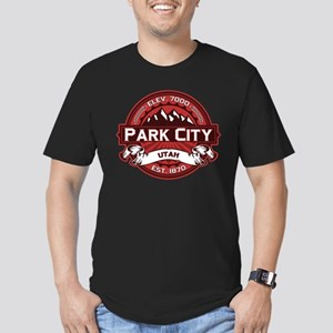 Park City Red Men's Fitted T-Shirt (dark)