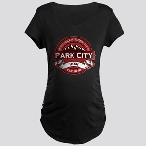 Park City Red Maternity Dark T-Shirt