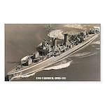 USS CARMICK Sticker (Rectangle)