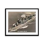 USS CARMICK Framed Panel Print