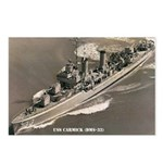 USS CARMICK Postcards (Package of 8)