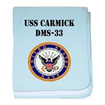 USS CARMICK baby blanket