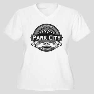 Park City Grey Women's Plus Size V-Neck T-Shirt
