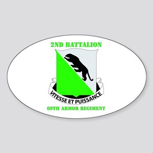 DUI - 2nd Bn - 69th Armor Regt with Text Sticker (