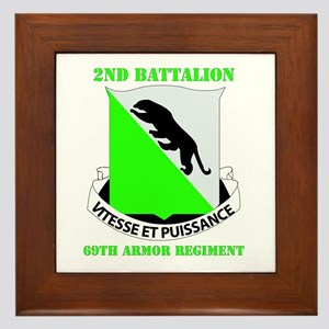 DUI - 2nd Bn - 69th Armor Regt with Text Framed Ti