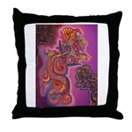 Quetzalcoatl Trinity Throw Pillow