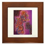 Quetzalcoatl Trinity Framed Tile
