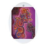Quetzalcoatl Trinity Ornament (Oval)