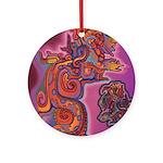 Quetzalcoatl Trinity Ornament (Round)