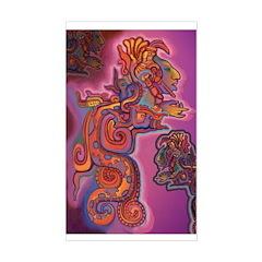 Quetzalcoatl Trinity Sticker (Rectangle)