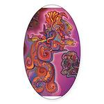 Quetzalcoatl Trinity Sticker (Oval)