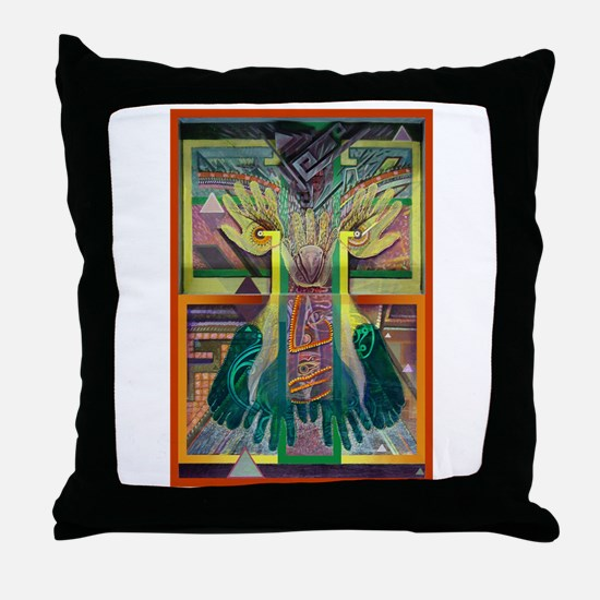 Ancient Traces Throw Pillow